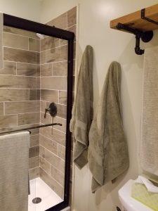 shower base and tile